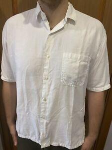 Stone-Island-Marina-Vintage-80s-90s-Short-Sleeve-White-Shirt-Size-Large-XL