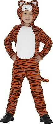 Unisex Boy/'s Girl/'s Tiger Fancy Dress Jumpsuit Animal All in One Book Day Safari