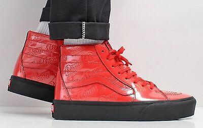Vans x David Bowie Sk8 Hi PLATFORM 2 Ziggy Stardust Red Men's Size 9 | eBay