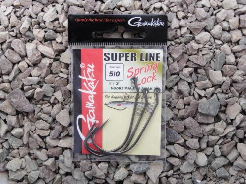 Spro Gamakatsu Super Line Spring Lock  Drop Shot Wurmhaken Bottom Jigging Offset