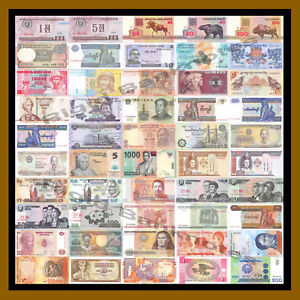 50-Pcs-of-Different-World-Mix-Mixed-Foreign-Banknotes-Currency-Lot-Unc