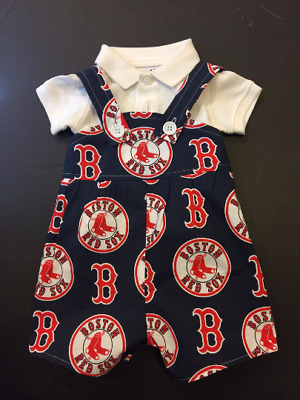 MLB Boston Red Sox Baby Infant Toddler Boys Jumper Overalls YOU PICK SIZE *