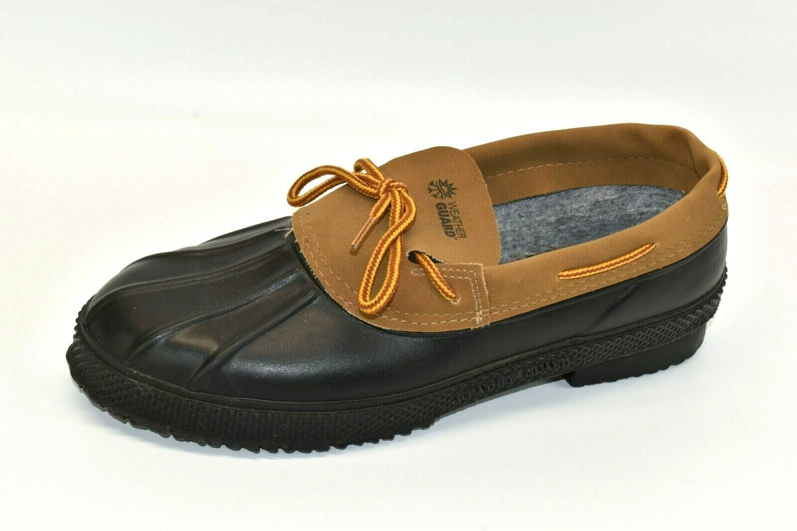 Weather Guard Men's Leather Shoes Sz 9 Round Toe Lace Casual Classic Black Brown