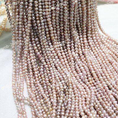 "6-7mm/7-8mm Genuine Natural Purple Akoya Freshwater Pearl Loose Beads 15""AAA++"