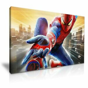 SPIDERMAN-PICTURE-PRINT-CANVAS-WALL-ART-VARIOUS-SIZES