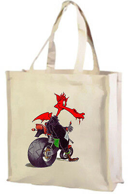 Willensstark Welsh Biker Dragon Choice Of Colours Cotton Shopping Bag