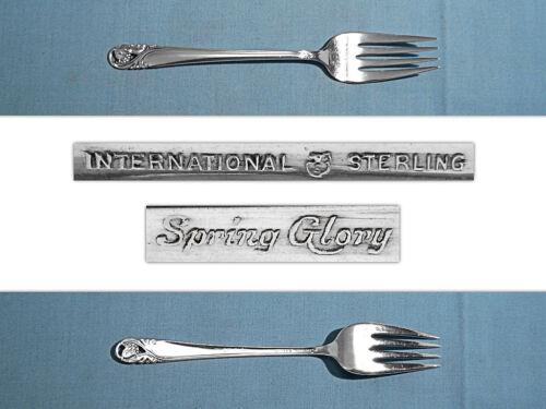 INTERNATIONAL STERLING SALAD FORK S ~ SPRING GLORY ~ NO MONO