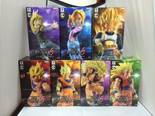 Banpresto Dragon Ball Z SCultures Zokei Tenkaichi6 Complete Figures Set of 7 NEW