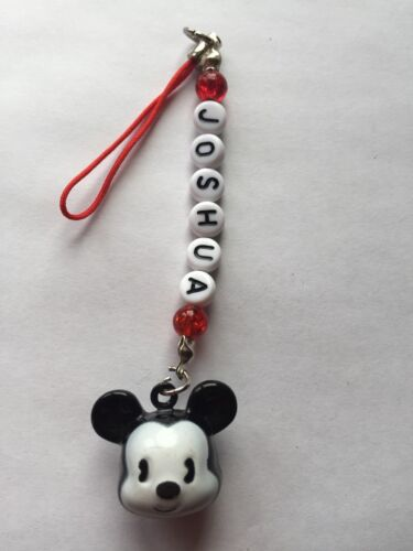 PHONE CHARMS PERSONALISED GREAT PARTY GIFT 1 BELL MICKEY MOUSE  HANDBAG