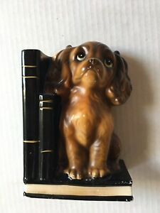 Ucago-Japan-Vintage-Bookend-Ceramic-Dog