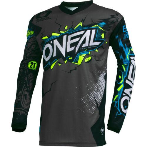 ONeal Villain Gray motocross dirt bike MTB mountain bike off-road gear Jersey