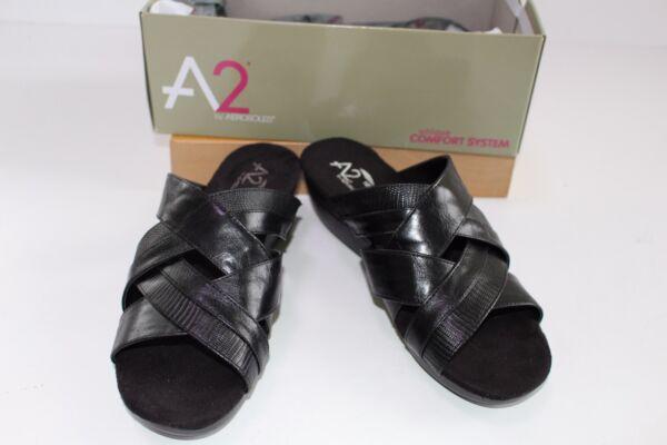 8a7085ffb A2 Aerosoles Black Shoes size 9.5 91 2 NEW Flower Power Sandals  69.99