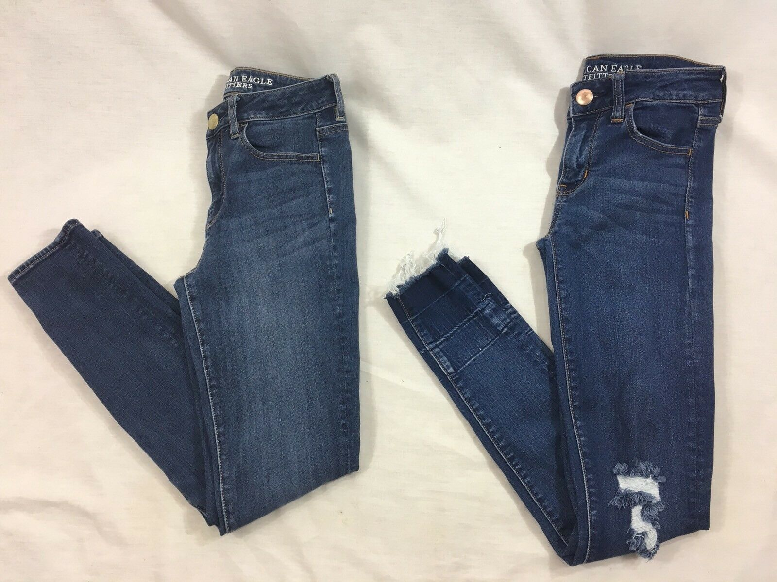 bluee Jeans American Eagle Womens 2 Reg Hi-Rise Jegging Super Stretch Lot of 2