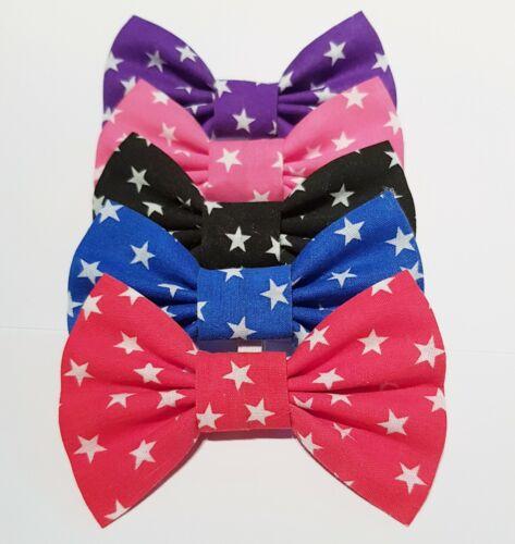 Dog bow tie Stars Red Blue Black Pink Purple
