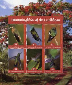 2019 Nouveau Style St Vincent & Grenadines 2019 Neuf Sans Charnière Colibris Mango Emerald 6 V M/s Oiseaux Timbres-afficher Le Titre D'origine