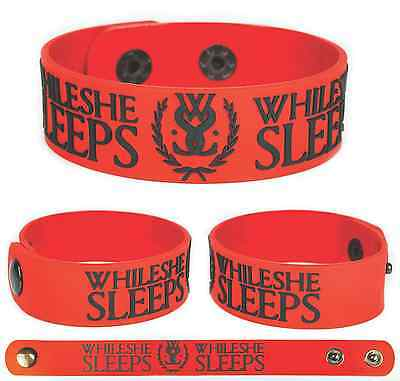 WHILE SHE SLEEPS Rubber Bracelet Wristband This Is the Six Red