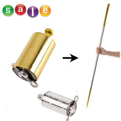 Portable Magic Pocket Staff Steel Metal Outdoor Sport Magical Wand Gold Toys L8Y