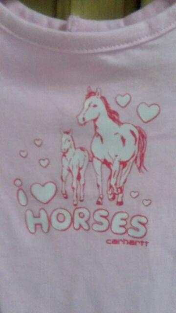 c0585df20 New Carhartt Horses Baby Girl's 6 Months Long Sleeve Bodysuit Shirt Cute  CA9527