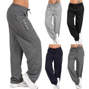 Plus Size Mujer Holgado Pantalones Deportivos Casual Deportes Haren Pantalones Para Yoga Jogger Pants Ebay