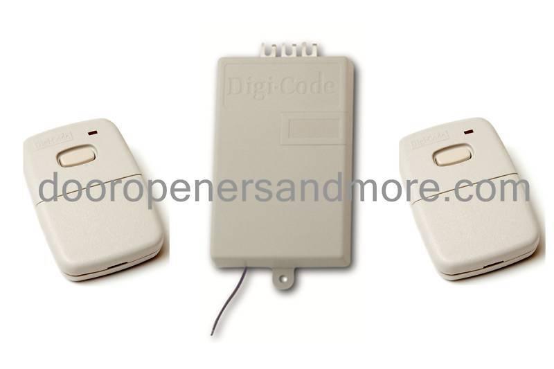 Digi Code 300 MHz Replacement Garage Door Receiver Kit with 2 Remote Controls