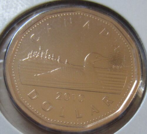 1 $ Canadian UNC 2010 Canada Loonie One Dollar Coin
