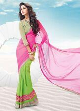 Indian Designer Sari With Designer Blouse Bollywood Designer Replica Saree