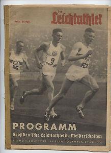 Orig-Komplette-PRG-Deutsche-Leichtathletik-Meisterschaft-1939-RARITAT