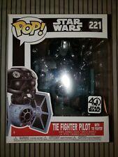 Funko Pop Star Wars Tie Fighter Pilot w// Tie Figure #221 Vinyl 40 Anniversary