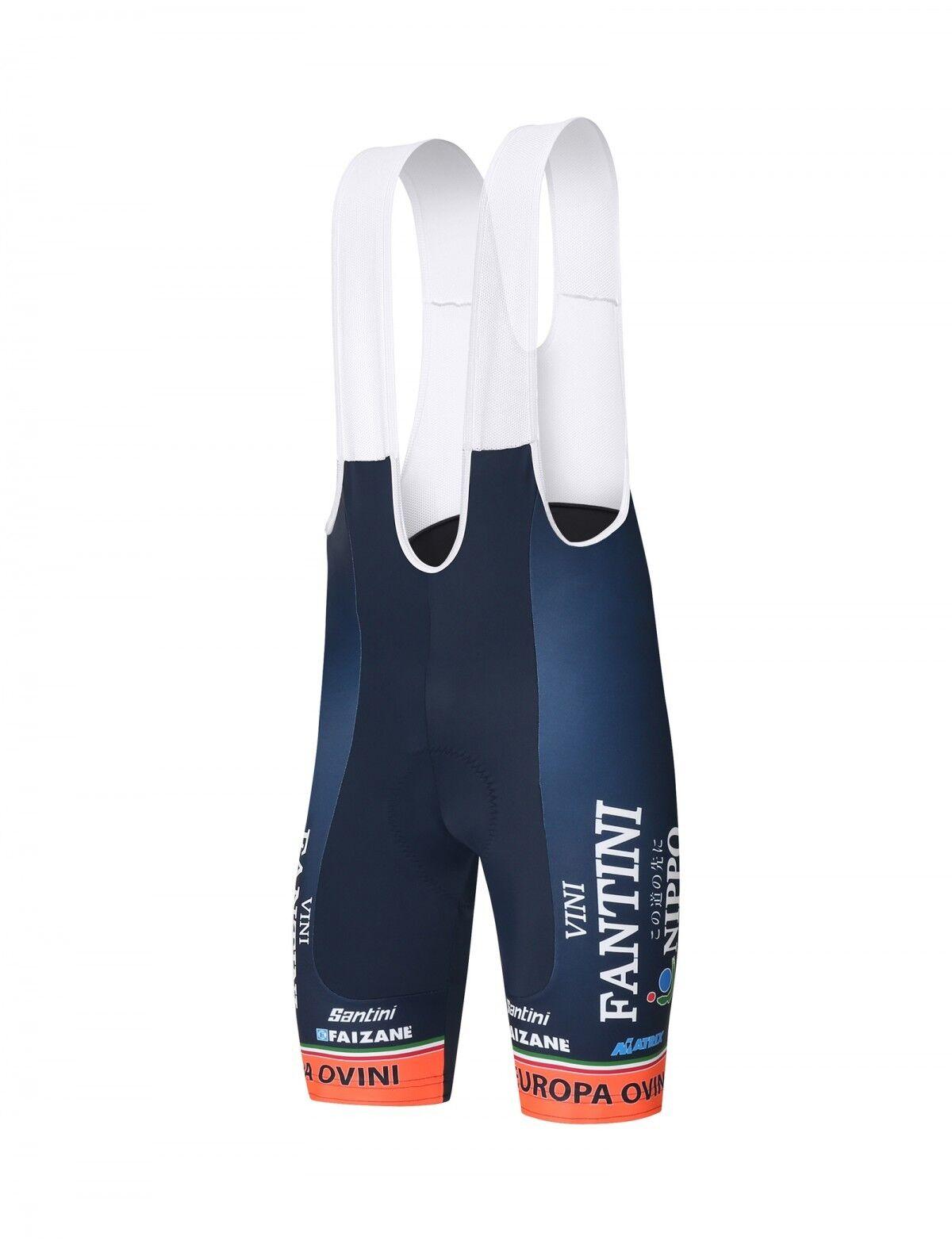 2018 NIPPO  VINI FANTINI Cycling Bib Shorts  EMAX Pad  by Santini