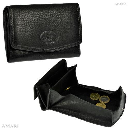AMARI kleine Geldbörse großes Münzfach Nappaleder Portemonnaie Geldbeutel MK486A