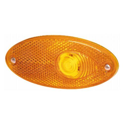 Side Marker Light Oval Marker Amber 12v with Amber LensHELLA 2PS 964 295-001