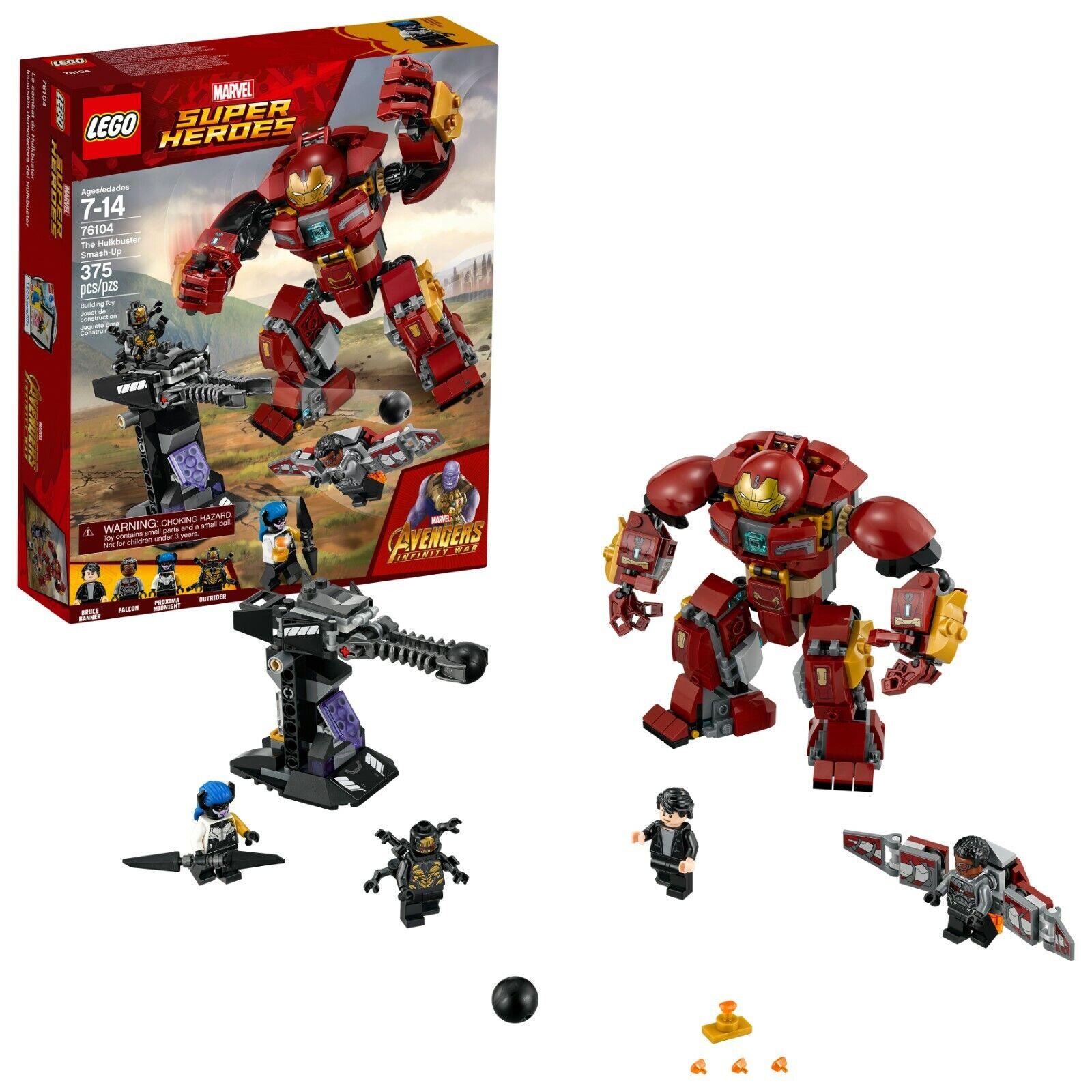 Marvel Los Vengadores Hulkbuster Smash-Up superhéroe Mini Figura Lego Construir Niños Juguete