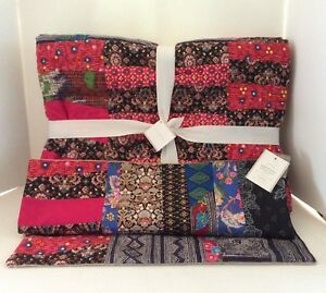 Pottery Barn Apple Blossom Patchwork Quilt Pillow Cover