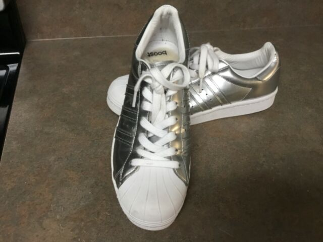 Size 9 - adidas Superstar Silver Metallic for sale online | eBay