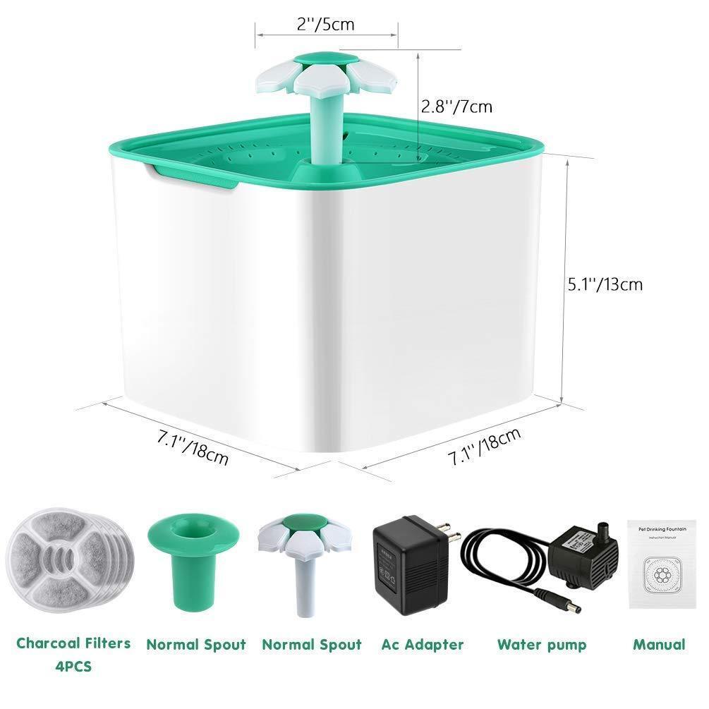 GATTO CANE fontana automatica acqua Pet fontanella ultra-silenziosi
