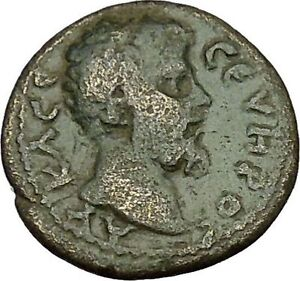 SEPTIMIUS-SEVERUS-Marcianopolis-Tyche-Luck-Goddess-Ancient-Roman-Coin-i39731