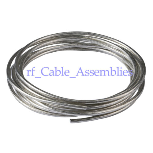 RF Semi-Flexible cable Adapter Connector Coaxial Cable .141/'/' RG402 20 feet