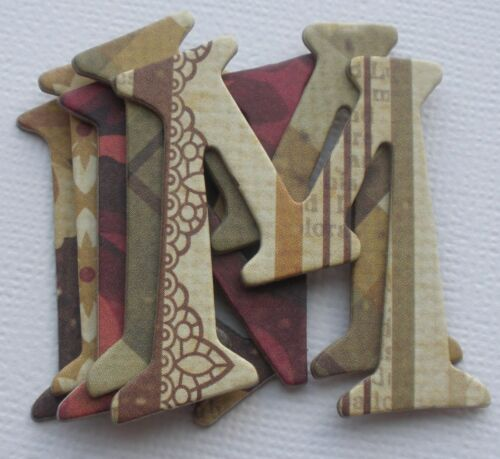 """Autumn Heritage Chipboard Letters Die Cuts 1.5/"""" Simple Stories GENERATIONS"""