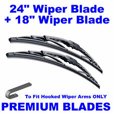 "Premium 24"" Inch & 18"" Inch Pair Front Windscreen Wiper Blades"