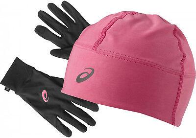 Herrlich Asics Performance Thermal Winter Beanie Hat And Glove Set - Pink Ein GefüHl Der Leichtigkeit Und Energie Erzeugen