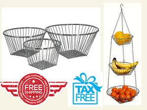 Wire-Hanging-Basket-Storage-Clear-Display-3-Tier-for-Fruits-or-Ktchen-Use-Chrome