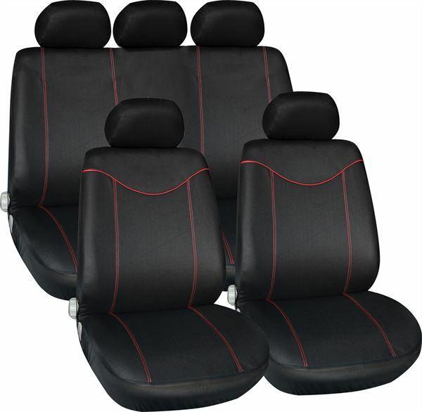 BLACK GREY CAR SEAT COVERS FOR SUZUKI SWIFT FIAT PUNTO