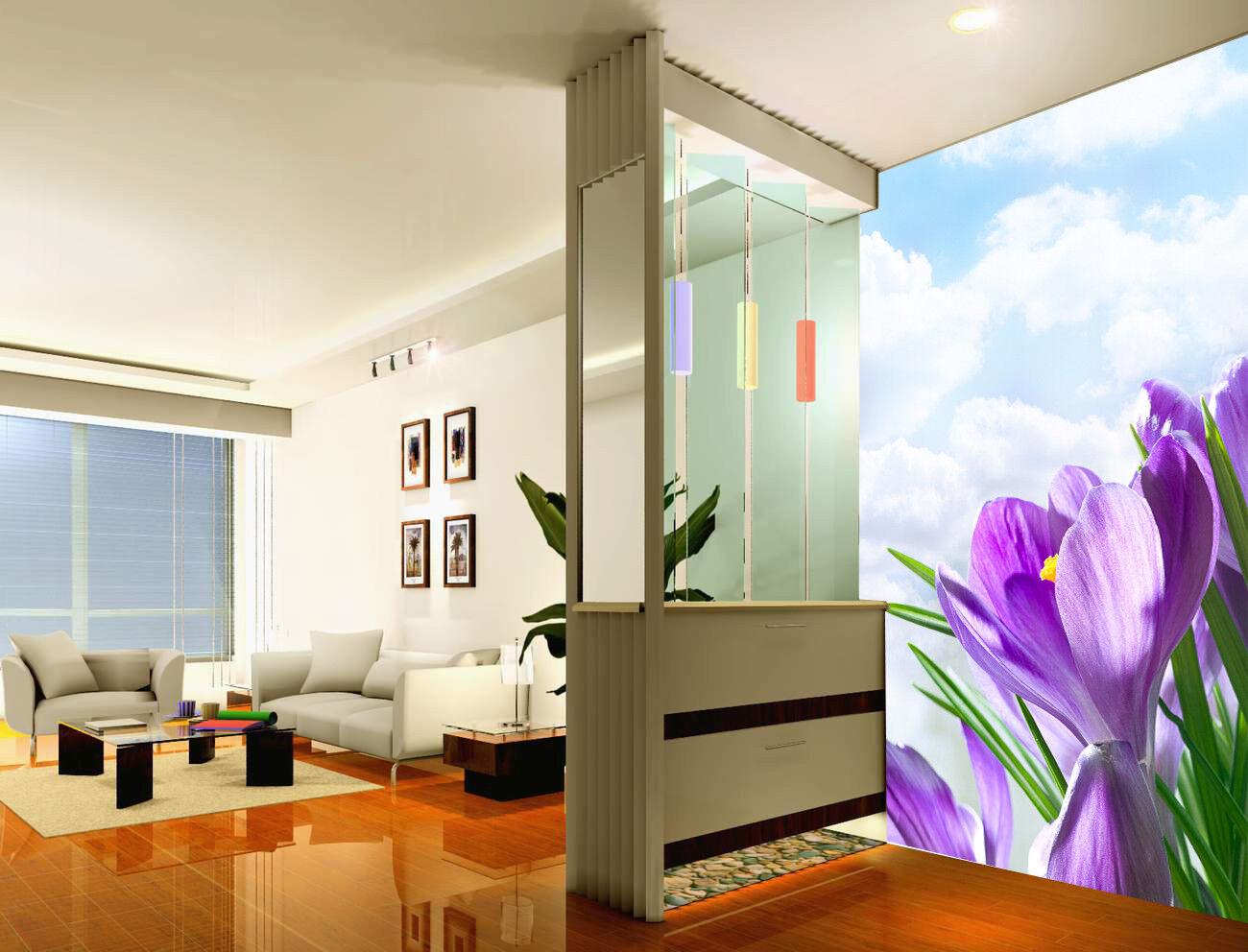 3D Blauer Himmel Blumen6 Tapete Tapeten Mauer Foto Familie Tapete Wandgemälde DE