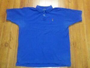 9a7e1a6f Chams Ralph Lauren Men Blue Short Sleeve Polo Shirt WPL125 Size:L | eBay
