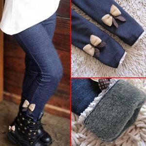 Children-Kids-Girls-Winter-Warm-Thick-Fleece-Leggings-Lined-Long-Trousers-Pants