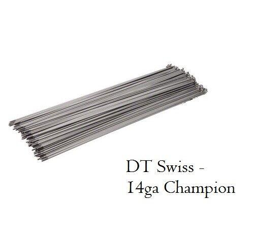NOUVEAU DT Swiss Champion 258 mm Acier Inoxydable Rayons 14 g 2.0 mm Lot de 50 Argent
