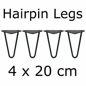 4 x 20 cm tischbeine tischkufen tischgestell couchtisch hairpin legs m belf e. Black Bedroom Furniture Sets. Home Design Ideas