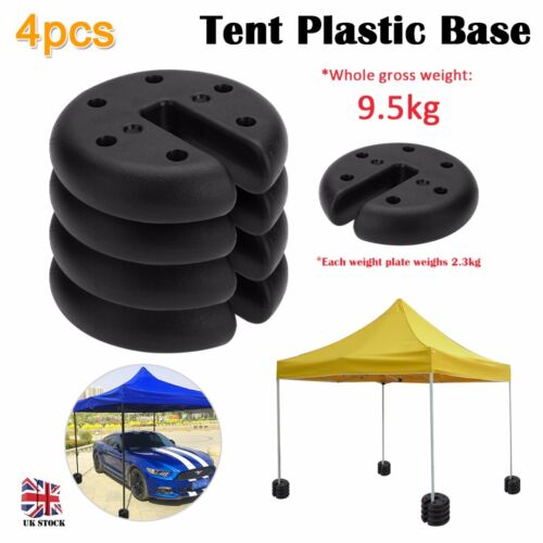 4pcs Outdoor Canopy Tent Leg Weights Anchor Stand Heavy Duty Gazebo Discs Base