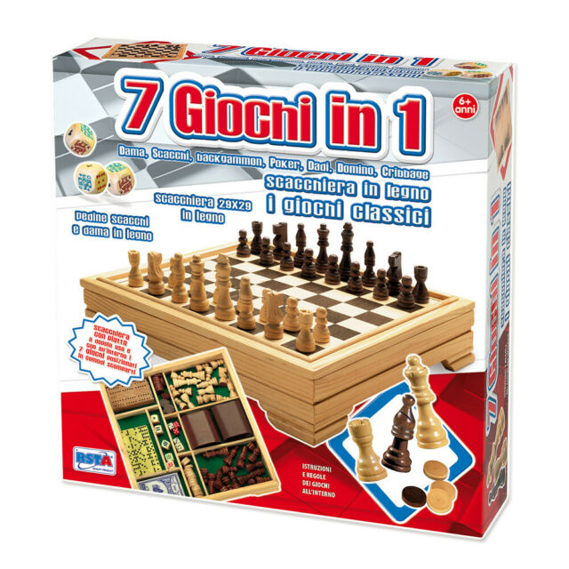 SCACCHIERA 7 GIOCHI IN 1 CLASSICO RSTOYS . - D68606 GIODICART