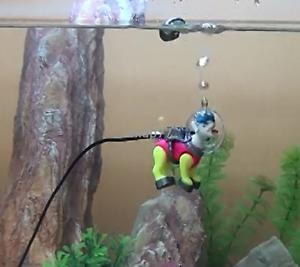 Action-Air-DIVING-SEA-DOG-ORN-for-Aquarium-Ornament-Fish-Tank-Decoration-decor